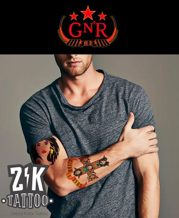 Axl Rose Tattoos Temporary Guns And Roses