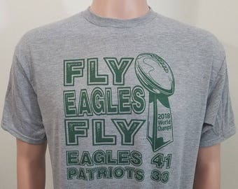 3a8636a2f84 FLY EAGLES FLY Philadelphia Eagles Super Bowl Champs T-Shirt...2018  football world champions