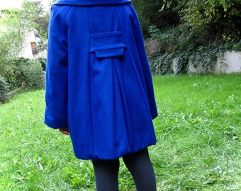 Coat wool cashmere and warm for the school Louise liberty
