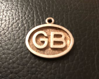1970s Gb solid silver charm