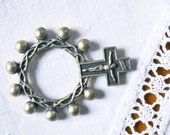 French religious, Crosses, ring, catholic, Crowns of thorns, finger, rosary, ring, pocket, crucifix beads