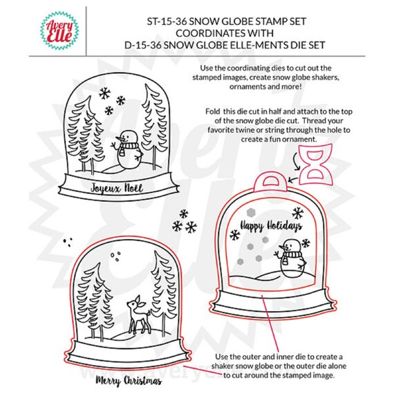 Avery Elle Photopolymer Stamp and Die Set Snow Globe     50/% OFF
