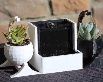 3D Printed Water Fountain | Fully Functional | Minimalist | Desktop |