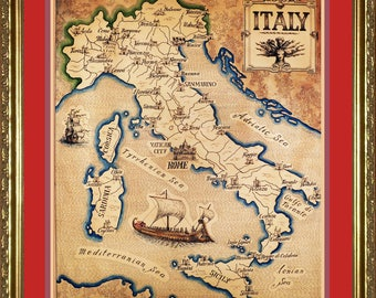 Map of The Italy