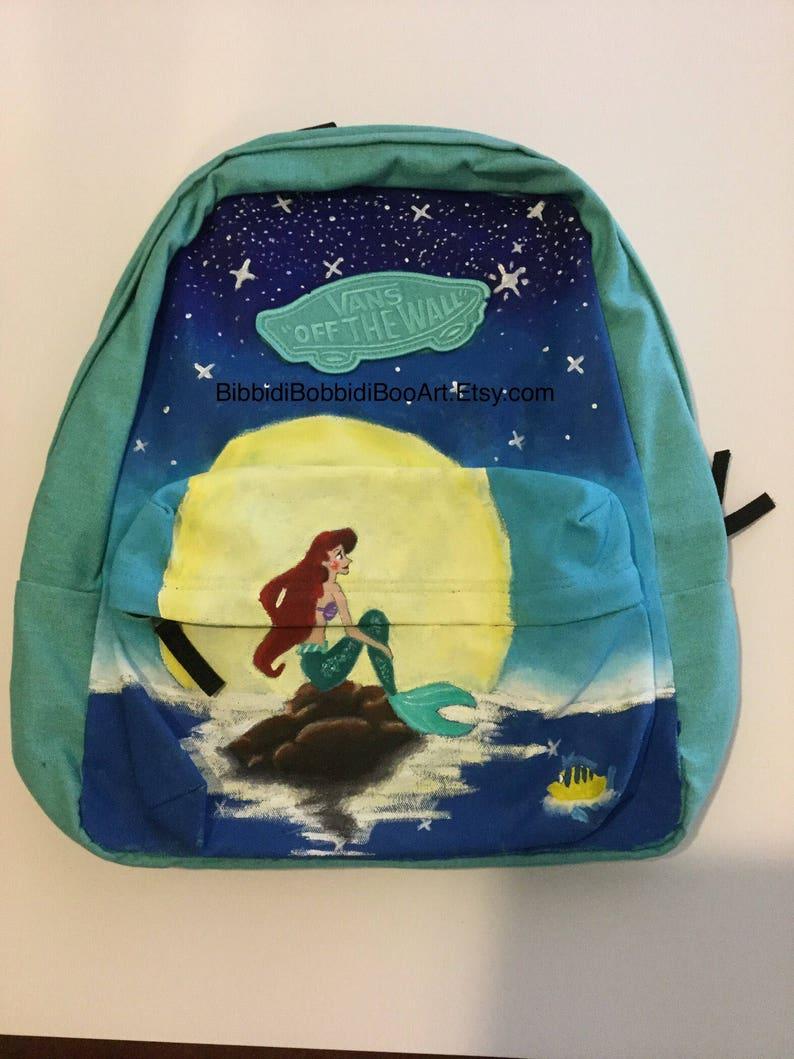 dc51080c4b The little mermaid handpainted backpack