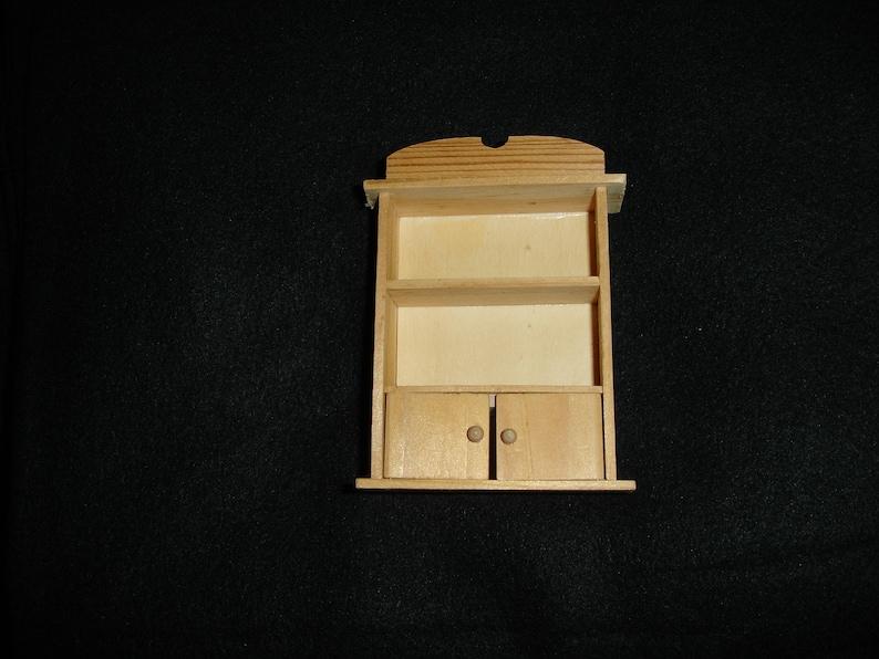 Unfinished Miniature Furniture Shelf #11