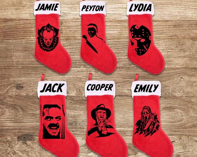 Featured listing image: Personalized Horror Slashers Stockings