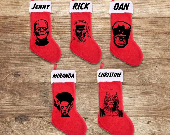 Featured listing image: Universal Monsters Stockings