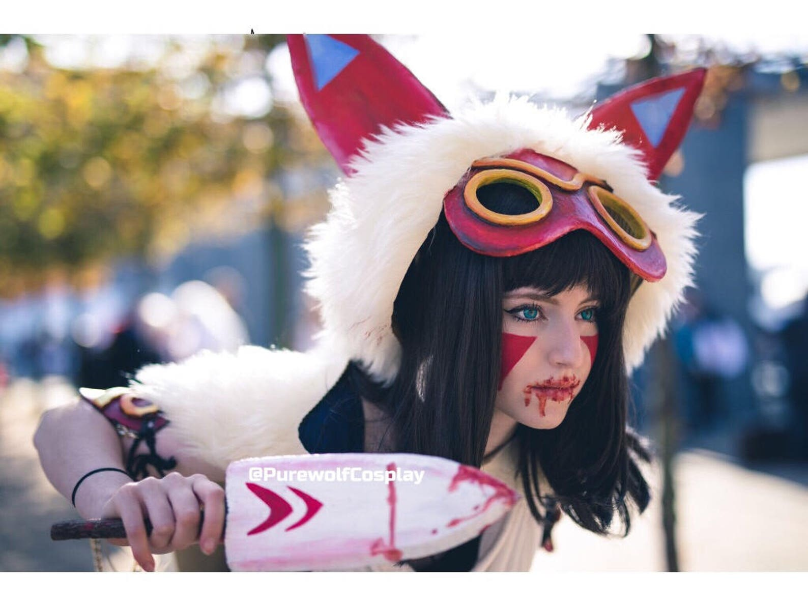 Princess Mononoke Cosplay Mask & Knife