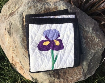 Iris 9 Inch Foundation Paper Quilt Block Pattern.