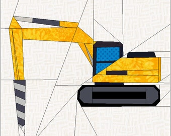Construction: Digger with Auger Drill Bit Attachment.