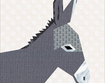 Dainty Donkey Quilt Pattern, A 12-inch Foundation Paper Pieced Pattern
