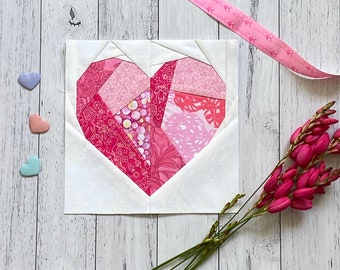 Broken Heart Quilt Block Pattern