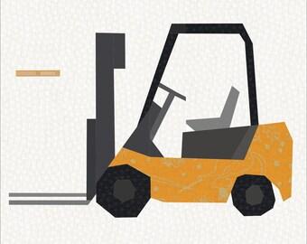 12 Inch Forklift Quilt Block Pattern.
