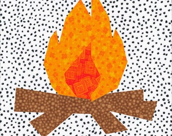 Campfire Foundation Paper Pieced Quilt Block Pattern