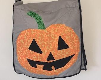 Jack O Lantern Halloween Quilt Block Pattern