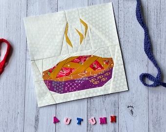 Fruit Pie Autumn Quilt Block Pattern