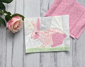 Bunny Rabbit Spring Quilt Block Pattern