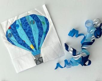 "Hot Air Balloon 12"" Foundation Paper Piece Pattern."