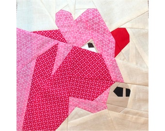 Cow Quilt Pattern - A 12 Inch Foundation Paper Pieced Farm Animal.