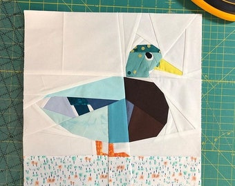 Mallard Duck Quilt Block Pattern.