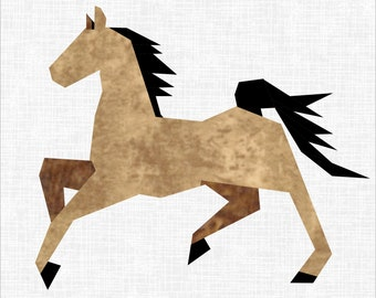 Horsing Around 12 Inch Foundation Paper Piece Horse Quilt Pattern