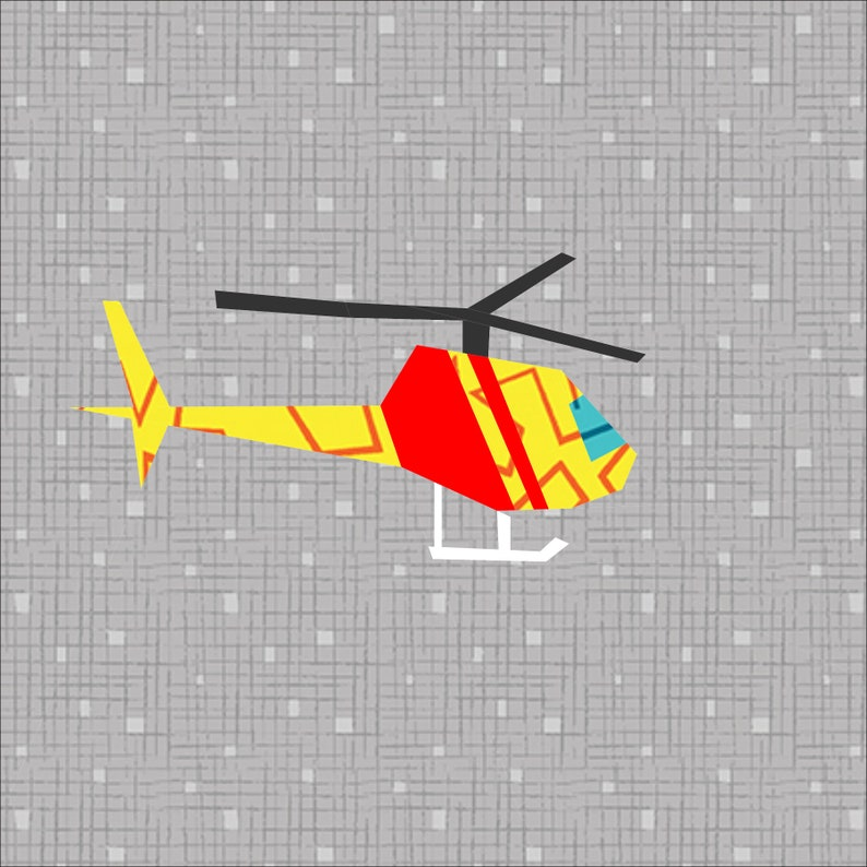 Pattern 12 Quilt Paper Pieced Block Foundation Helicopter Inch qUzpSMV