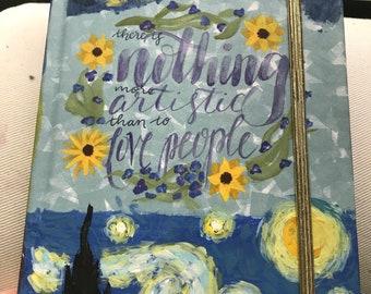 Van Gogh Hand Painted Notebook