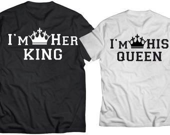 Couple Matching ShirtsMatching ShirtsKing Queen King ShirtsCouples ShirtThe KING His QUEENCouples Shirts
