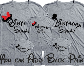 06655bb5b The Birthday Squad tees,Birthday shirt,Birthday Squad Shirts,Birthday party shirts  Birthday group shirt Birthday-Plus Size Available 3XL-4XL