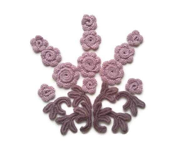 Application Violet Violet Application Ornement Floral Fleurs De