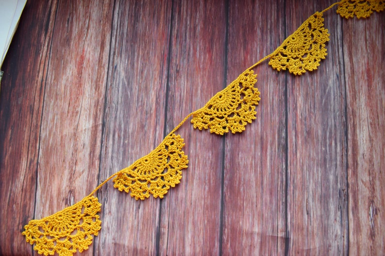 Yellow garland for easter wall decor Easter banner.