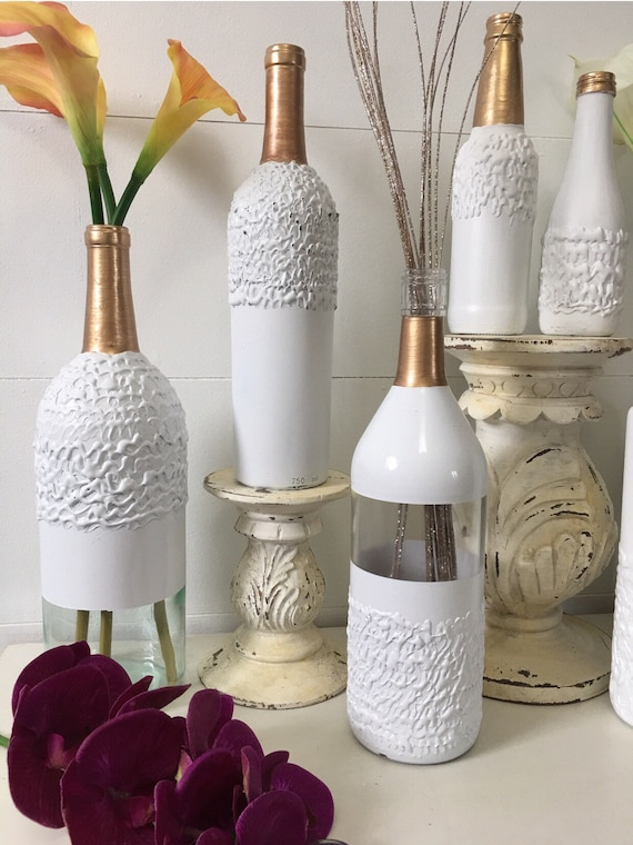 Wine bottle centerpiecewedding centerpiece rustic wedding | Etsy