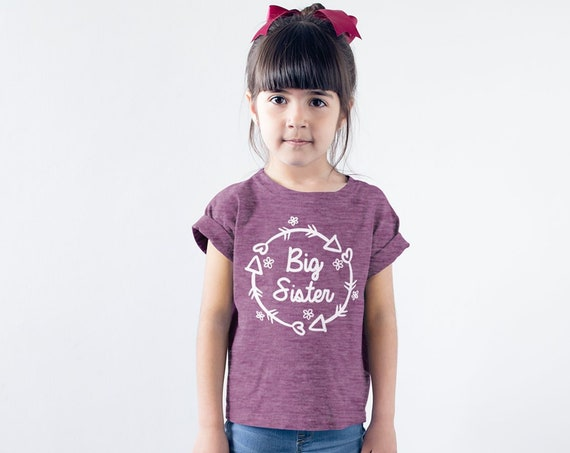 Big Sister Shirt Promoted to Big Sister Big Sis Pregnancy Reveal Gift for Baby Announcement Big Sister Outfit Cute Big Sister girl Kid Tee