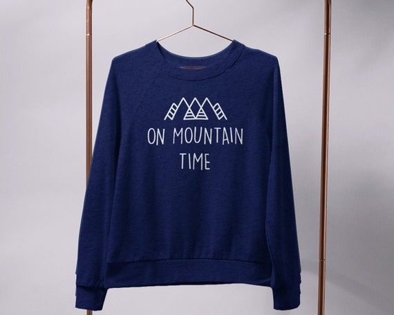 On Mountain Time Tee Custom Colorado Sweatshirt Mountain t-shirt Colorado t-shirt Gift Mountain life Gift Colorado Tee Colorado State shirt