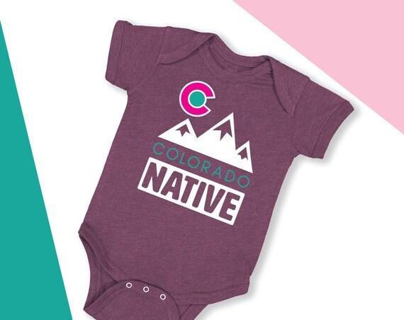 Colorado Native Baby Bodysuit Colorado Baby gift Colorado kid shirt Colorado Mountain Shirt Colorado Baby Clothes Colorado Native Kid Tee