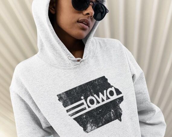 State of Iowa Sweatshirt, State of Iowa Hoodie, Hawkeye State Sweatshirt, Iowa City Sweatshirt, Iowa Strong Hoodie, Midwest is Best Hoodie