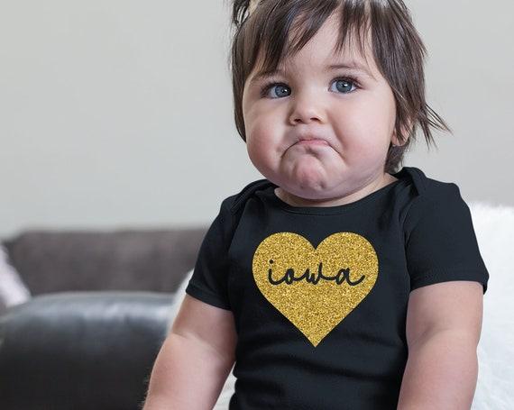 Iowa Baby Girl Bodysuit, Iowa Girl, Iowa Toddler Shirt, Iowa Home Baby, Iowa Heart Shirt for Kids, Iowa Homegrown Baby, Gift for Iowa Baby