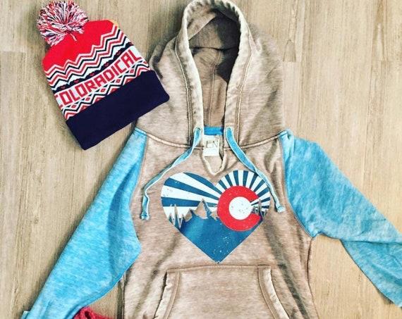 Colorado Sweatshirt, Colorado Gifts, Colorado Hoodie, Colorado Women's Clothing, Colorado Christmas Gift, Love Colorado, Vintage Colorado