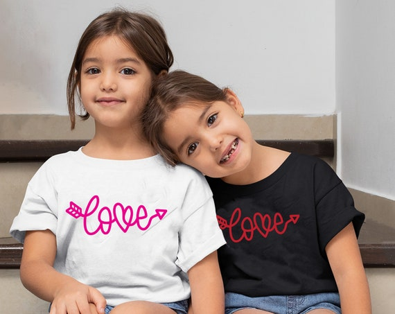 Custom Valentines Day Shirt For Kid   Kid's Love Shirt   Valentines Day Kid Tee   Valentines Day Shirt for Girl   Cute Valentines Day Tee