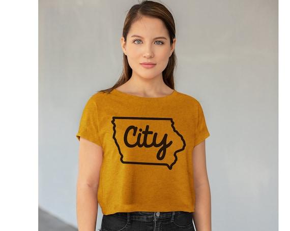 Iowa City T-shirt   Iowa City Crop Top   Gift for Iowa Student   Iowa City Women   Iowa is Home T-shirt   319 Shirt   Tailgating Tee