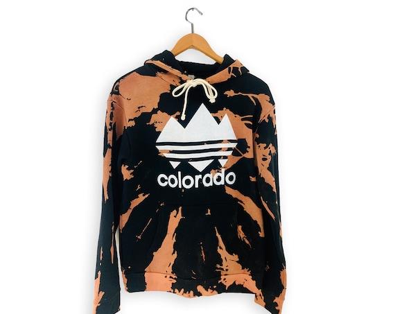 Colorado Bleach Dyed, Colorado Hoodies, Colorado Sweatshirt, Colorado Shirt, Denver Sweatshirt, Colorado Gift, Denver Colorado Sweater