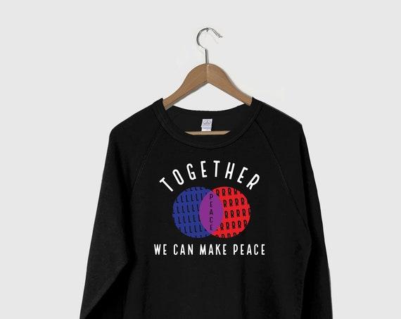 Peace Sweatshirt, World Peace Shirt, Biden Harris 2020, The Future is Peace, Peace Love Shirt, Peace Sign Sweatshirt, Girl Power Sweatshirt