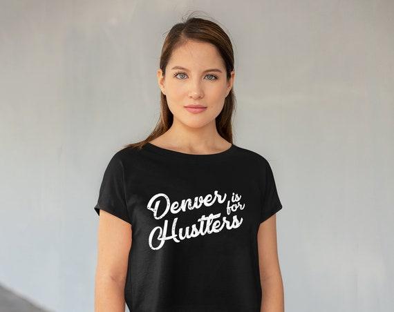 Denver Crop Top, Denver Shirt, Colorado Shirt, Denver Gift, Mountain Shirt, Denver T-shirt, Denver Graphic Tee, Gift for Colorado Friend