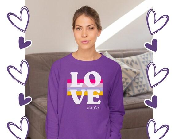 Valentines Day Sweater   Valentines Day Sweatshirt for Women   Heart Valentines Sweatshirt   Love sweater   Heart Sweater   Galentine Shirt