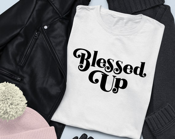 Blessed Up | Blessed Tee | Blessed Shirt | Grateful Thankful Blessed Shirt | Thanksgiving Shirt | Fall Shirt | Turkey Day T-shirt | Thankful