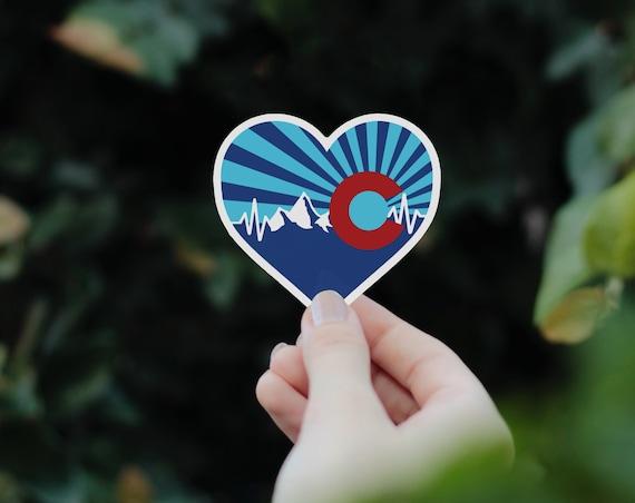 Colorado Sticker, Colorado Heart Sticker, Colorado Gift, Colorado Bumper Sticker, Laptop Denver Sticker, Denver Gift, State of Colorado Gift