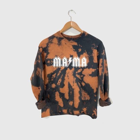 Mama Bleach Dyed Sweatshirt, Reverse Tie Dye Sweatshirt, Momlife Sweatshirt, Mama Bear Sweatshirt, Gift for New Mom, Mama Sweatershirt