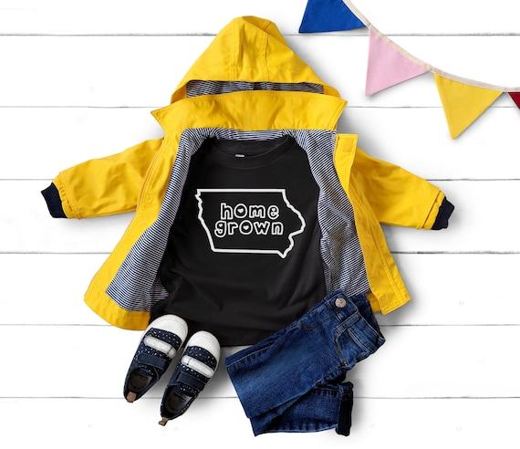 Iowa Home Grown Kid Tee   Iowa Home T-shirt   Iowa Clothing   Shirt for Kids   Iowa Toddler Tee   Iowa Homegrown Kid Tee   Made in Iowa Kid