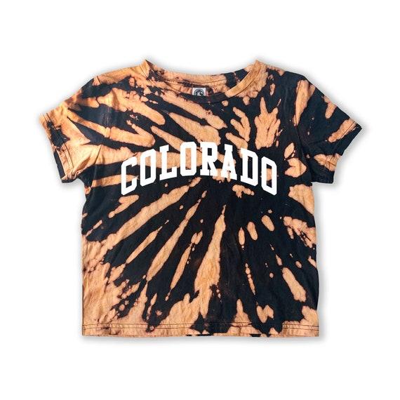 Colorado Tee | Colorado Shirt | Bleached Dye Shirt | Denver Colorado T-shirt | Mountain Shirt | Colorado Gift | Colo Shirt | Crop Tee